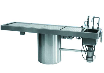 Rotating Hydraulic Autopsy Table